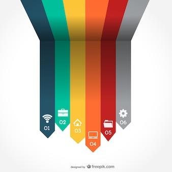 Arrrows vetor infografia