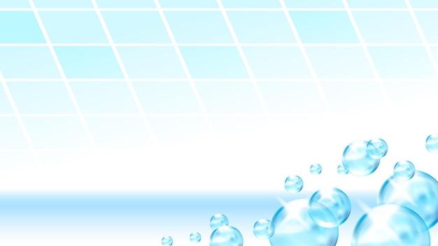 Arruela de detergente de ladrilhos de bolhas copiar espaço vector