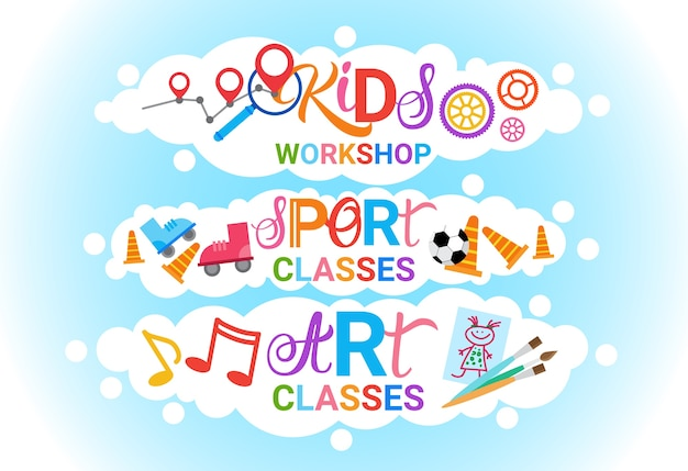 Art classes for kids logo
