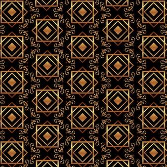 Art deco padrão ouro geométrico decorativo luxo