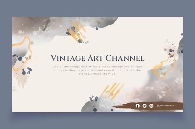 Arte abstrata do canal do youtube em aquarela