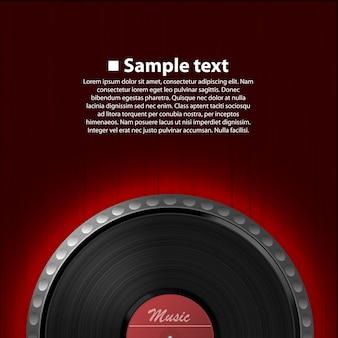 Arte abstrata do fundo da música. disco de vinil. ilustração vetorial