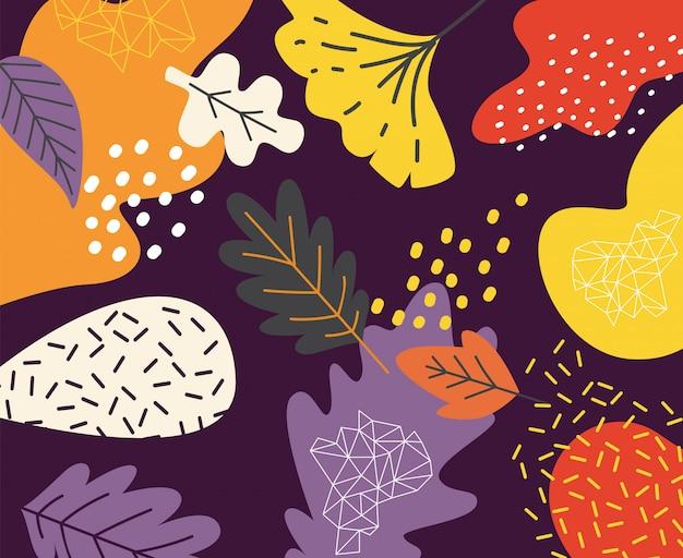 Arte abstrata doodle floral