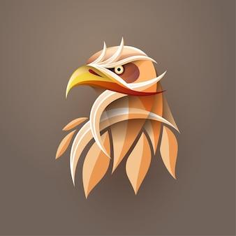 Arte abstrata em gradiente de cabeça de águia para impressão de pôster, impressão de camiseta, cartão postal