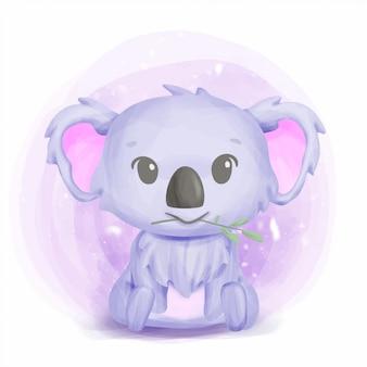 Arte bonito do berçário do koala do bebê