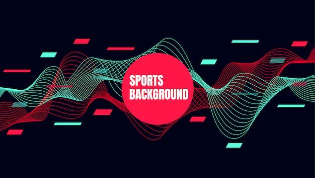 Arte colorida abstrata para o fundo de esportes