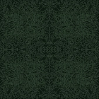 Arte com padrão floral sem costura verde linear