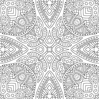 Arte com padrão sem costura linear preto e branco
