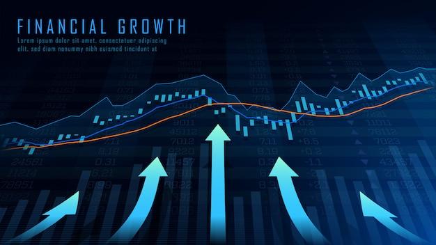 Arte conceitual de crescimento financeiro