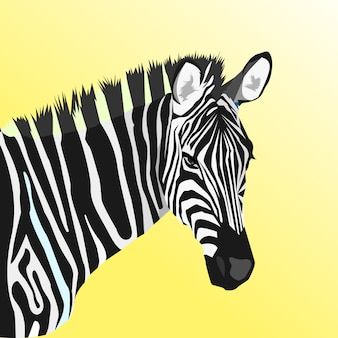 Arte criativa zebra pop art estilo