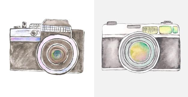 Arte da câmera em aquarela