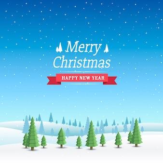 Arte da capa de feliz natal, fundo de feliz ano novo, ilustração vetorial