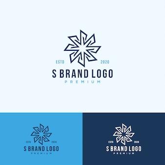 Arte da linha do logotipo do monograma