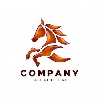 Arte da natureza correndo logotipo de velocidade do cavalo