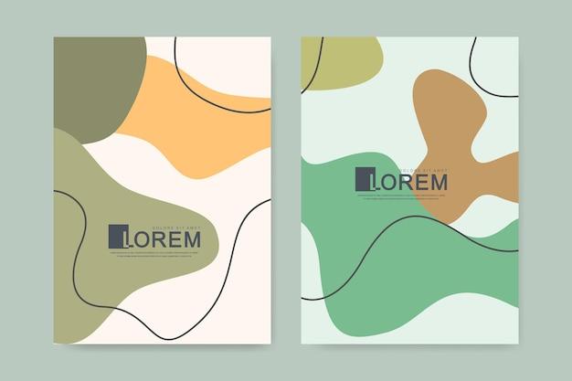 Arte da parede botânica abstrata minimalista moderna cenografia do vetor para impressão, capa, cartazes. arte de parede minimalista e natural com formas e linhas geométricas. mão-extraídas ilustração vetorial de arte.