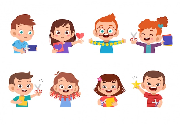 Arte de artesanato de papel de crianças