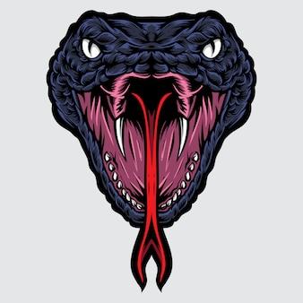 Arte de cabeça de cobra venenosa