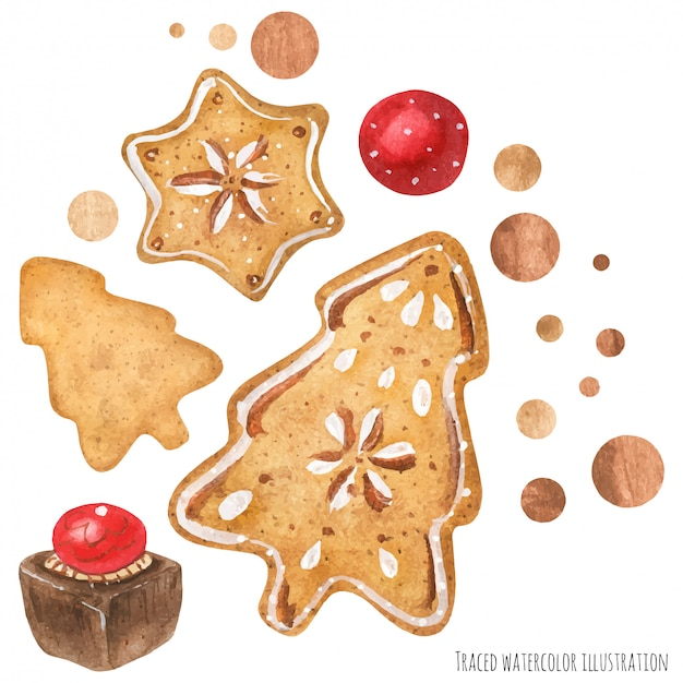 Arte de chocolate e biscoito