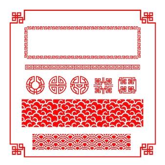 Arte de estilo chinês para decoração em fundo branco