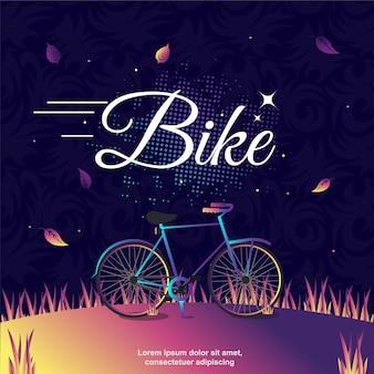 Arte de ilustração vetorial de bicicleta