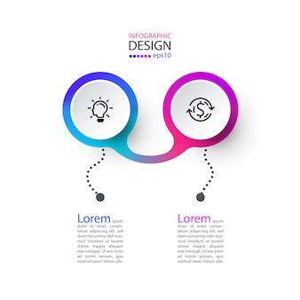 Arte de infográfico de rótulo de círculo.