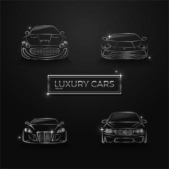 Arte de linha de carros de luxo