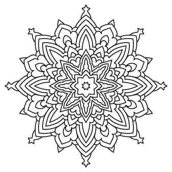 Arte de linha de design de mandala arabesco.