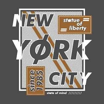 Arte de linha de new york city
