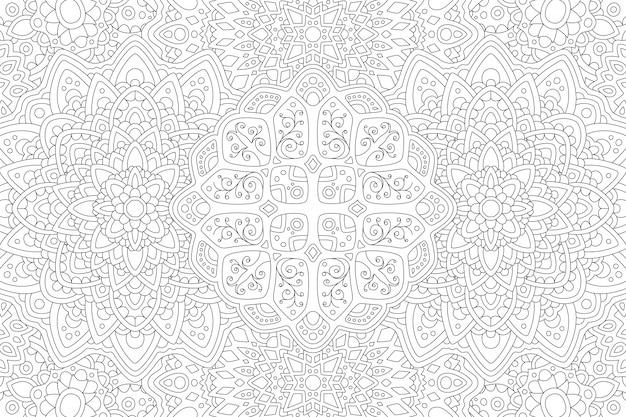 Arte de linha em preto e branco para livro de colorir