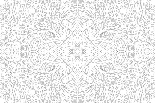 Arte de linha para livro de colorir com padrão vintage