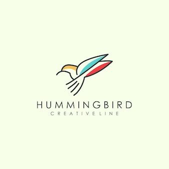 Arte de logotipo de pássaro de contorno