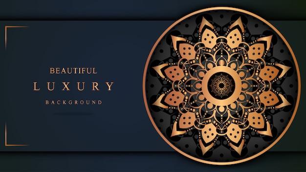 Arte de luxo com estilo oriental de cores luxuosas