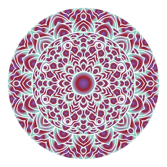 Arte de mandala abstrata círculo com forma de gradiente