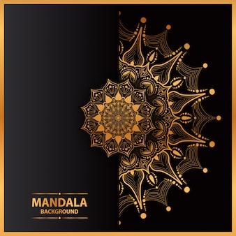 Arte de mandala de luxo com círculo geométrico