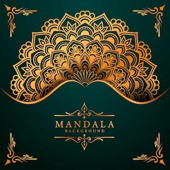 Arte de mandala de luxo com estilo islâmico árabe de fundo