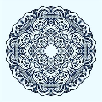 Arte de mandala desenhada à mão com estilo indiano