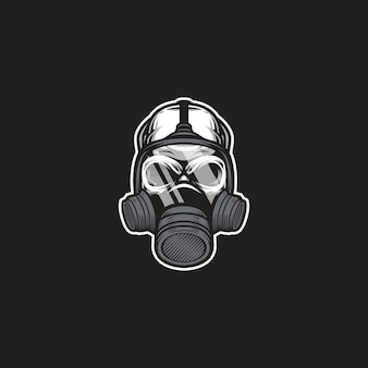 Arte de máscara de gás do crânio