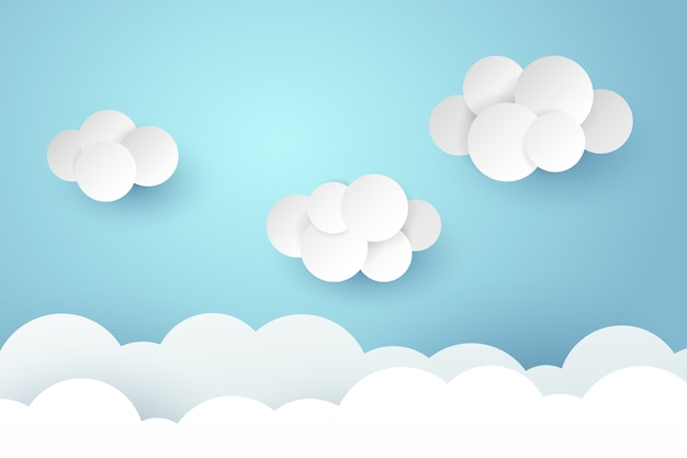 Arte de papel da ilustração do céu