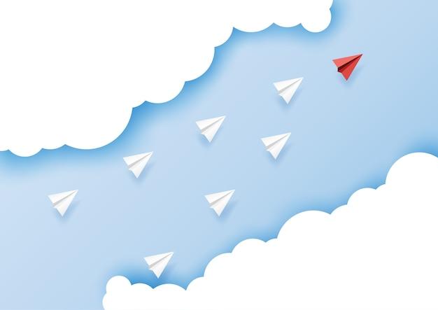 Arte de papel da liderança empresarial