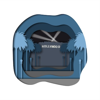 Arte de papel de hollywood