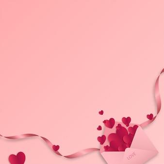 Arte de papel do amor e dia dos namorados