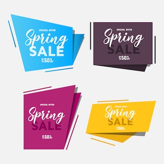 Arte de papel do conjunto de venda de primavera