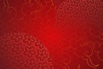 Arte de papel do modelo de elementos tradicionais e asiáticos chineses