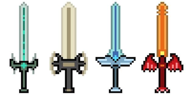 Arte de pixel de arma de espada fantasia