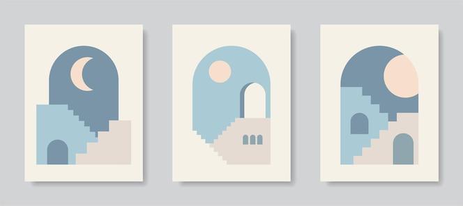 Arte de pôster moderna arte abstrata de parede arte digital de decoração de interiores