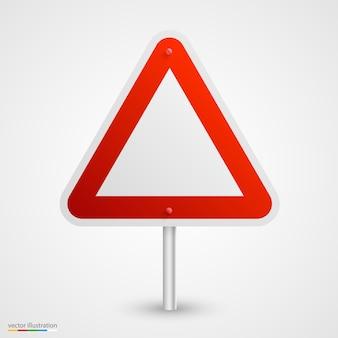 Arte de sinal de estrada vazia de perigo. ilustração vetorial