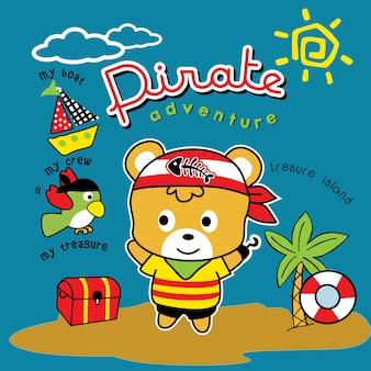 Arte de vetor de desenhos animados de pirata