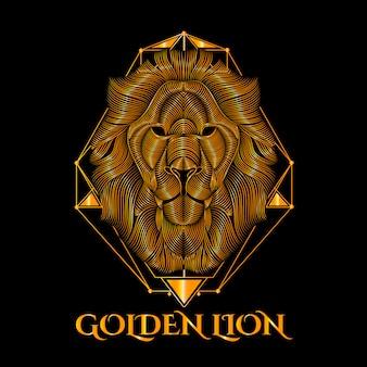 Arte de vetor de leão de ouro