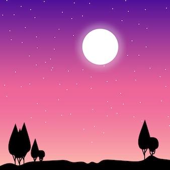 Arte de vetor de noite stary
