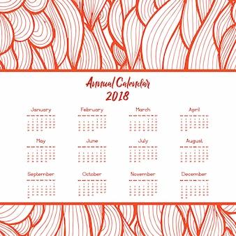 Arte desenhada mão desenhada desenhos coloridos do calendário